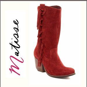 Matisse El Paso Red Suede Boots